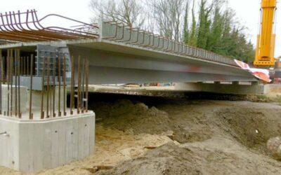 Der neue Brückenkörper steht